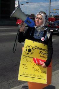 Dijla Al-Rekabi Megaphone Calgary 2007-08-25