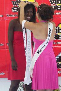 Adwoa Yamoah winning Miss Sun and Salsa 2007 crown