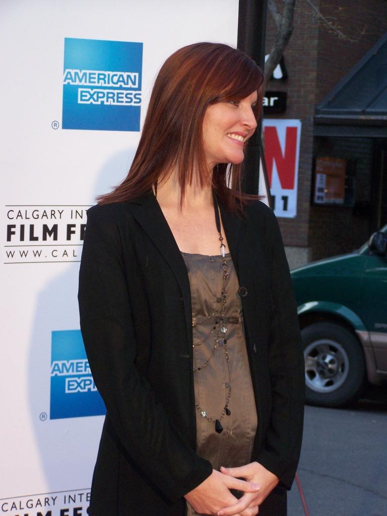 Leah Sarich at film festival 2