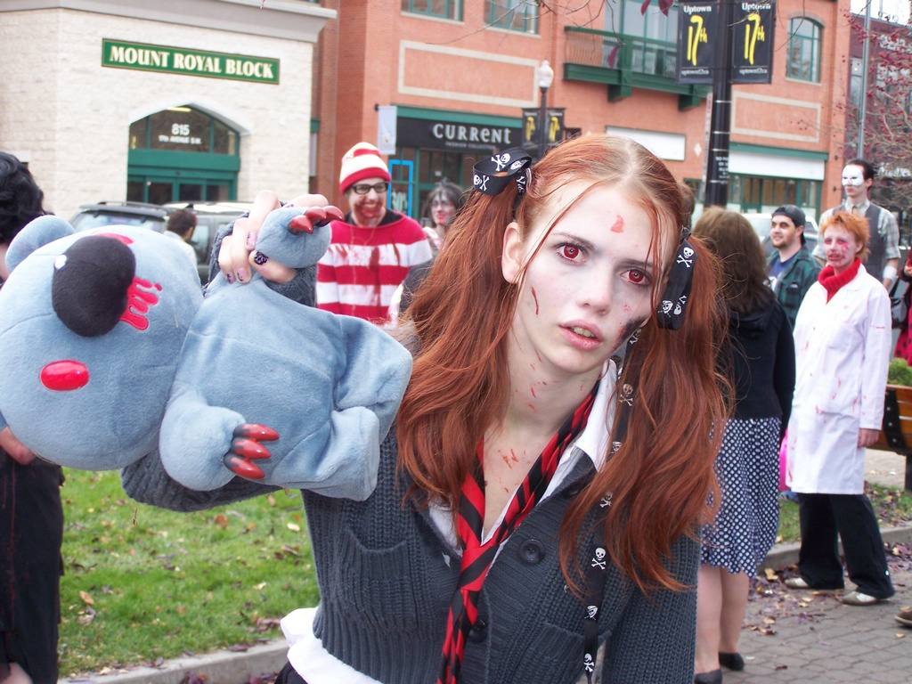 Red Eyed Zombie Girl