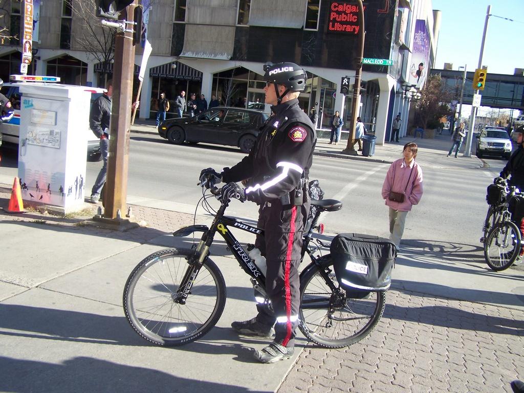 Cop on a bike