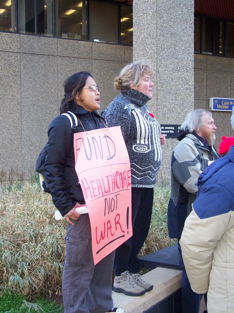 Fund Healthcare not war