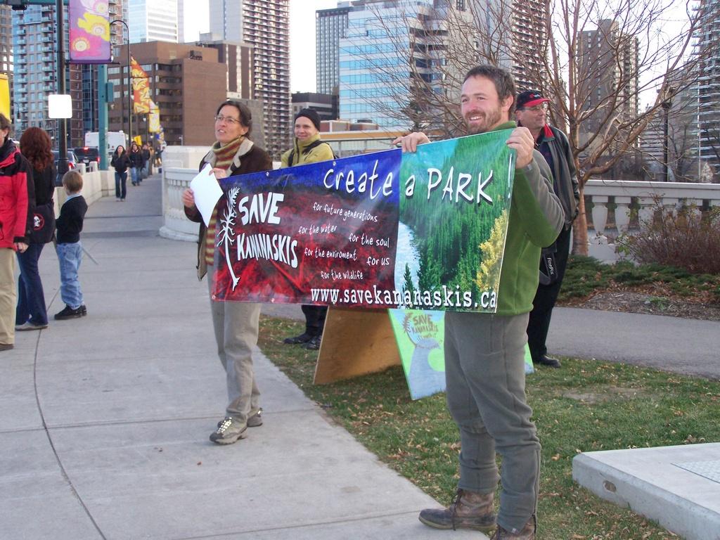 Rally for Kananaskis 2007-11-02 09