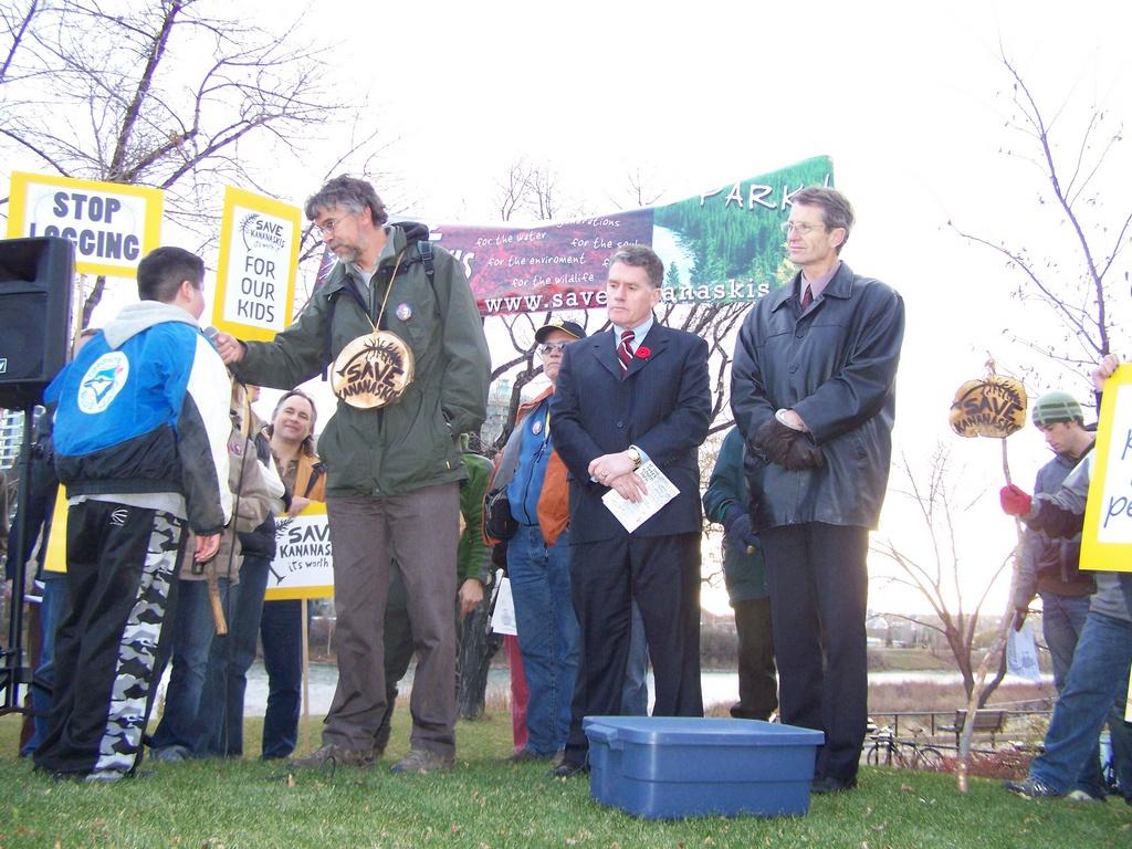 Rally for Kananaskis 2007-11-02 26