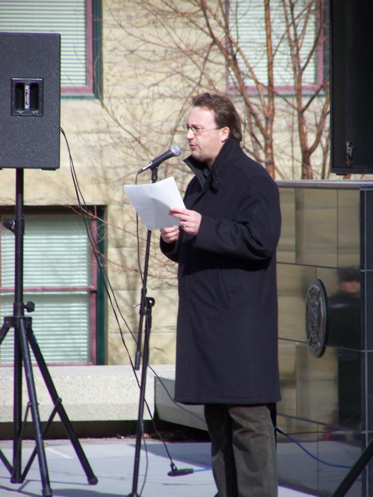 Speaking at Kosovo Rally