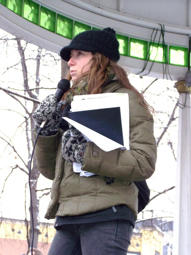 Greenpeace speaker at Tomkins