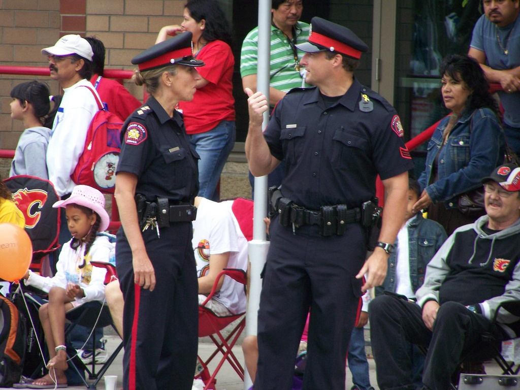 Calgary Police Service at parade