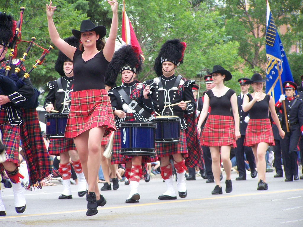 Highland dance with band