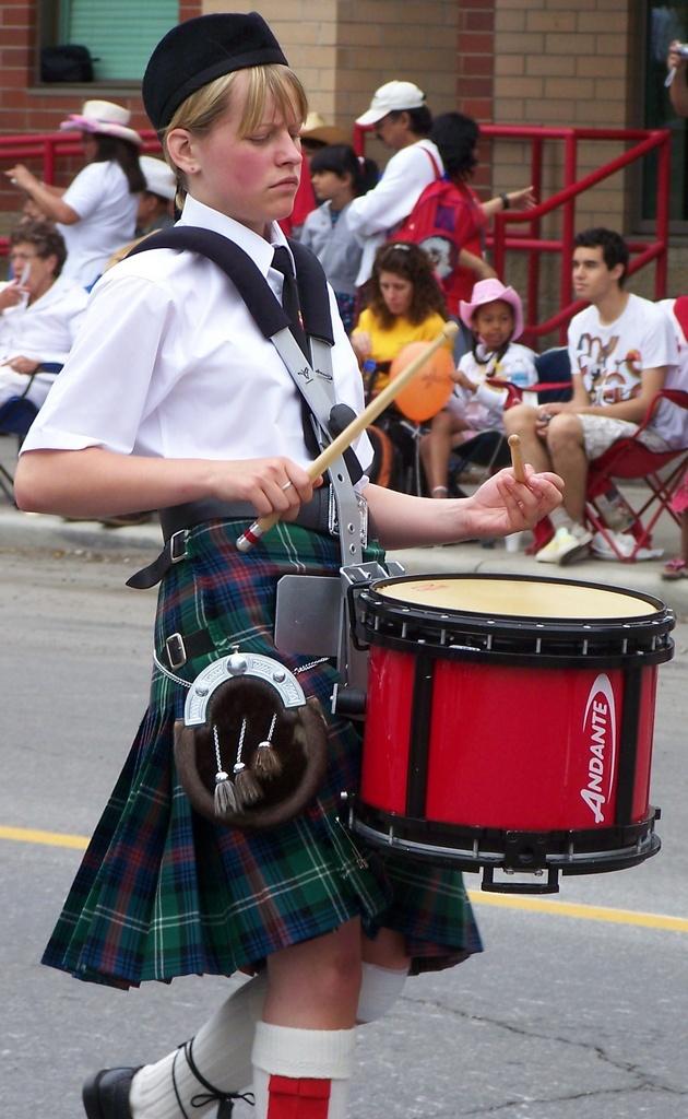 Highland drummer