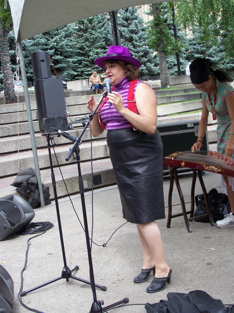 Caren Wright performs