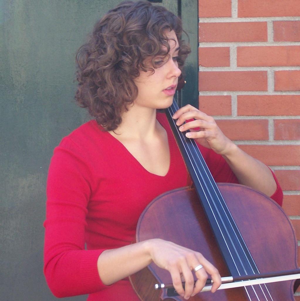 Girl plays cello