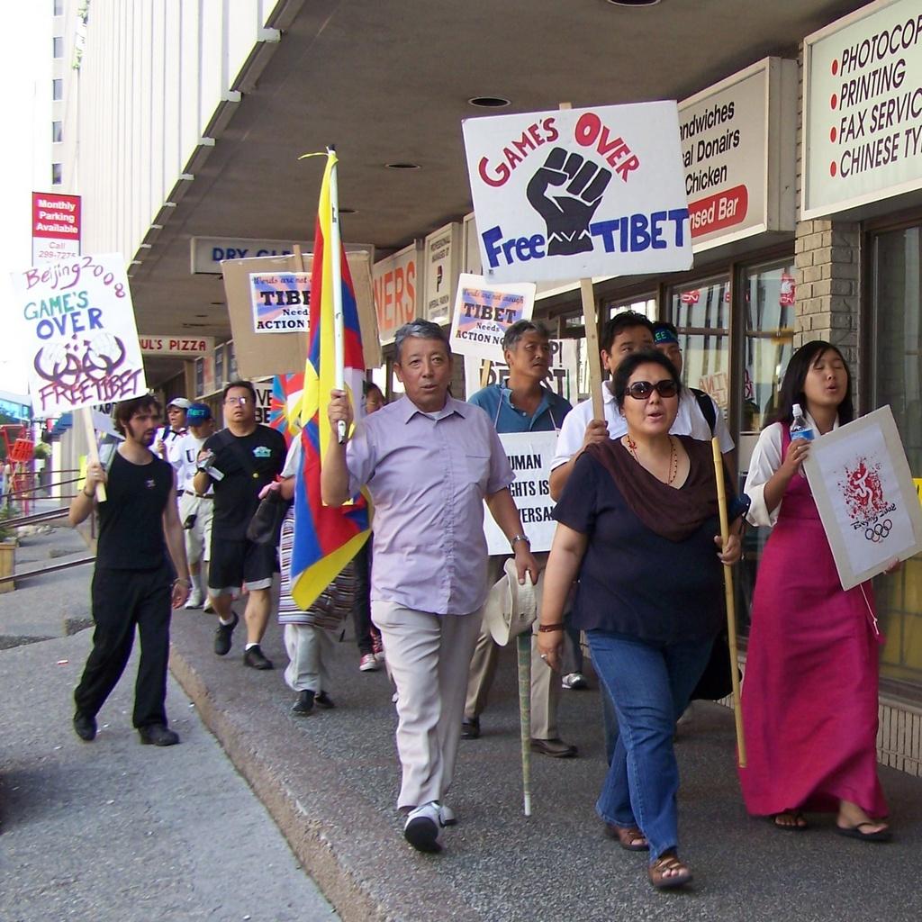 Games over, Free Tibet