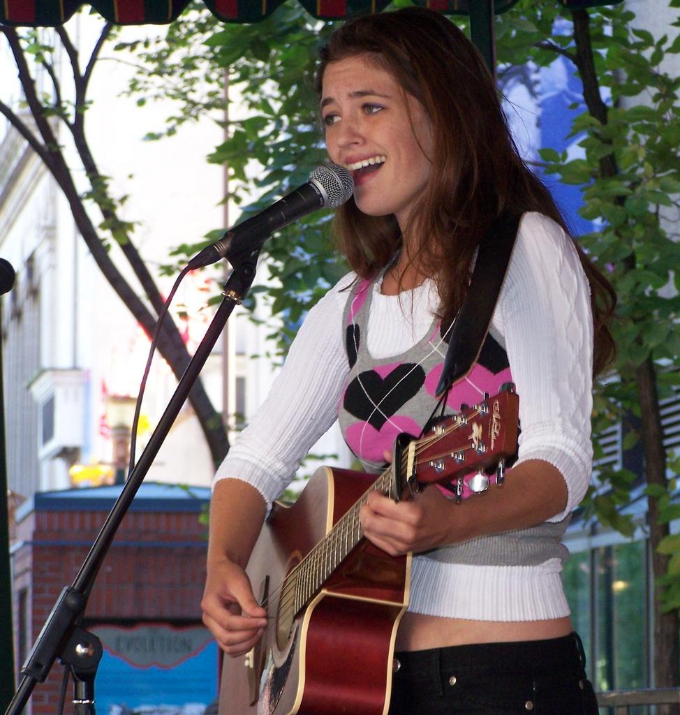 Kessi Blue sings in Calgary