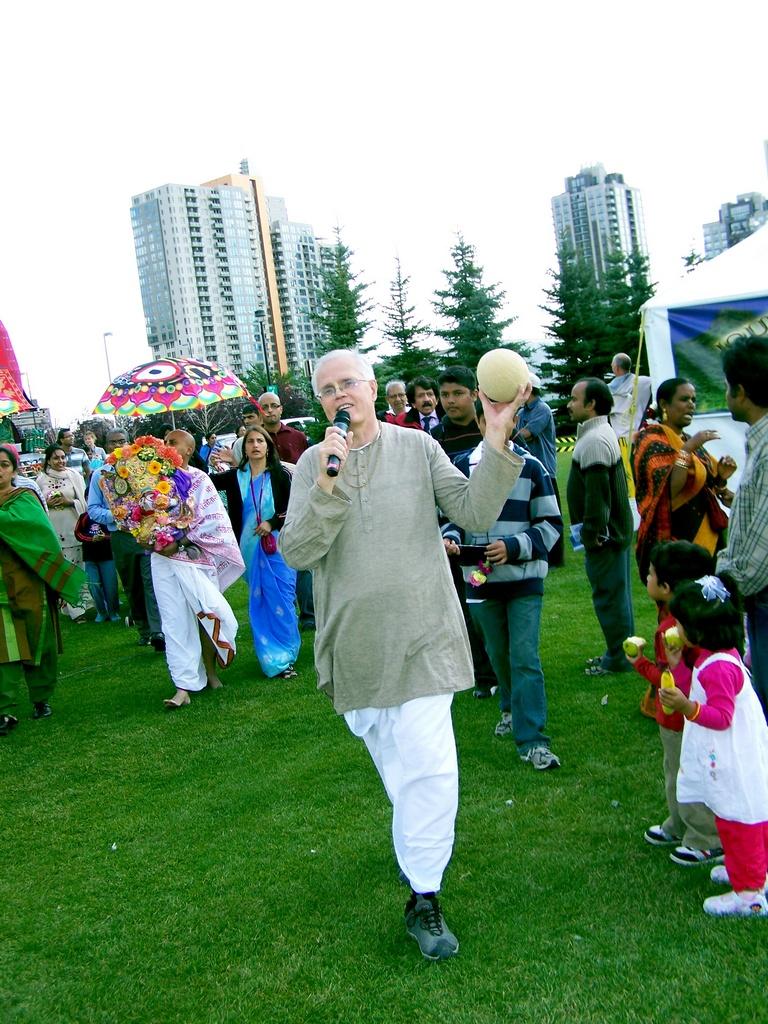 Chanting Hare Krishna at Park