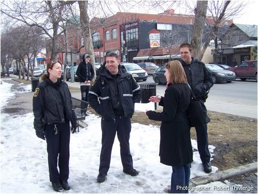 Katie Schneider interviews bylaw officers