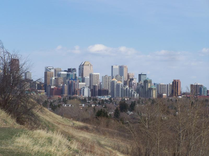 Another shot of downtown from a hill