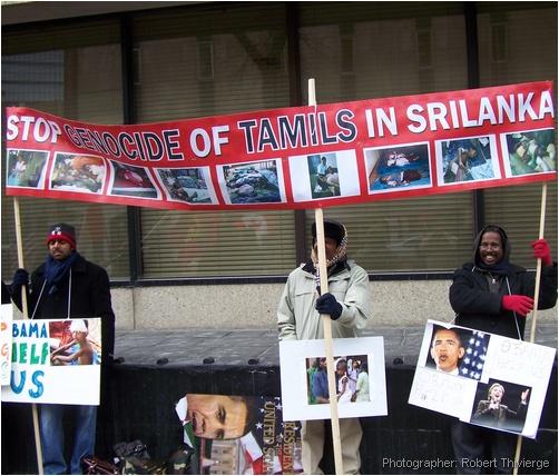 Calgary Tamils protest Sri Lanka