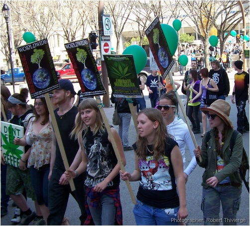 Worldwide march for marijuana in Calgary