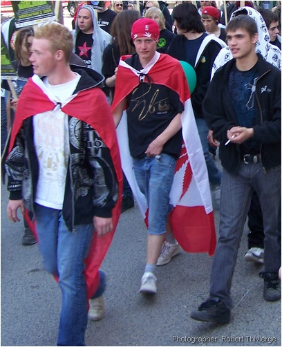 Wearing the Cannibas Canada flag