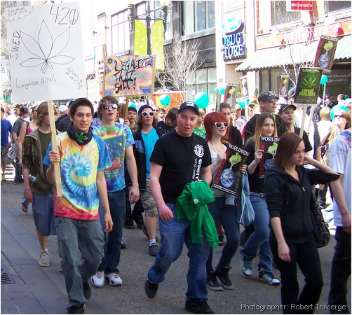 Colourful march for pot in Calgary