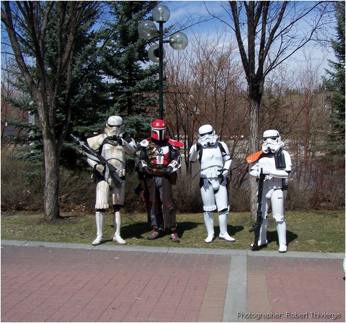 Imperial stormtroopers help out
