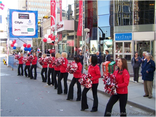 Calgary cheerleaders