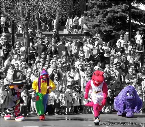 Mascot Racing at Olympic Plaza