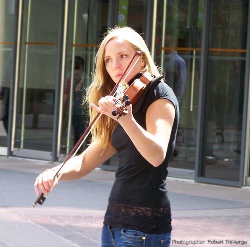 Sarah Anderson on violin