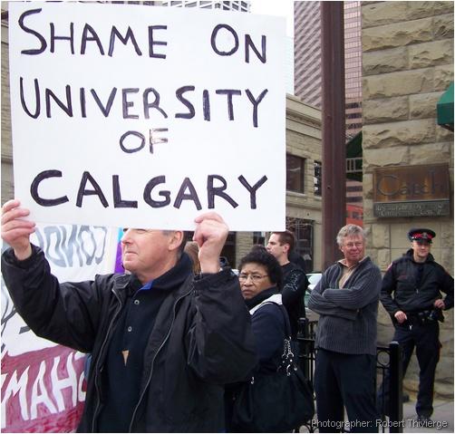 Protesting U of C bringing Condi