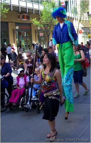 Stilted walking with pride