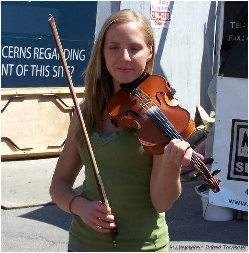Taking a short violin break