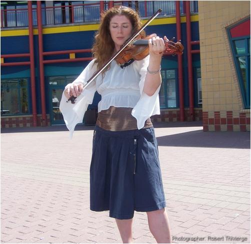 Karen plays the violin