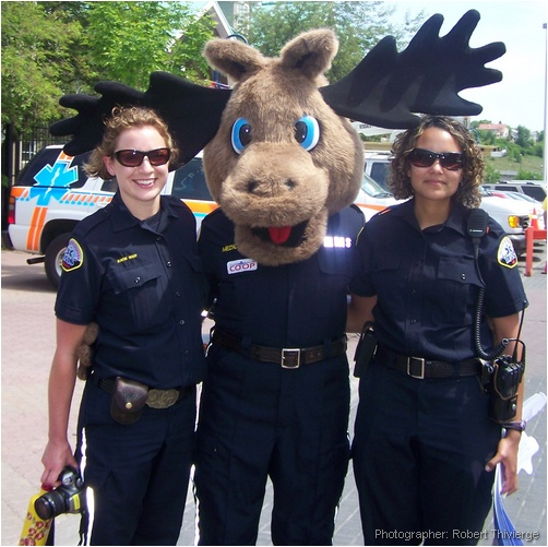 Medic Moose with EMS Girls