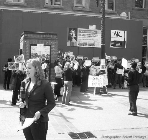 CBC covers Iran protest in Calgary