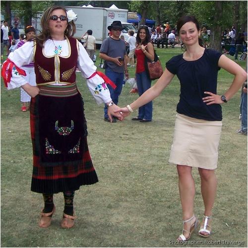 Serbian-Canadian dancers in Calgary