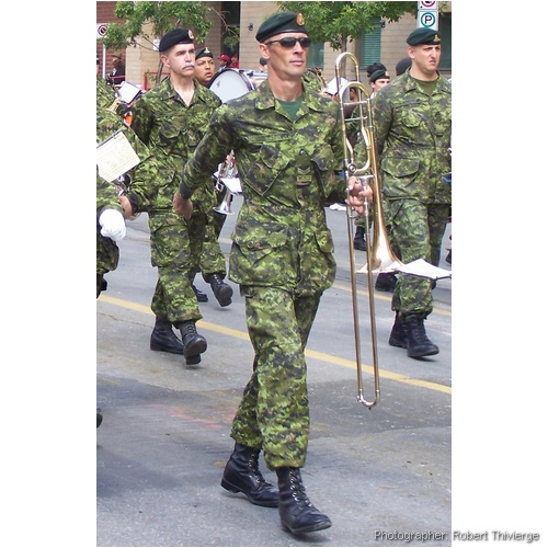 Camouflage Marching Band