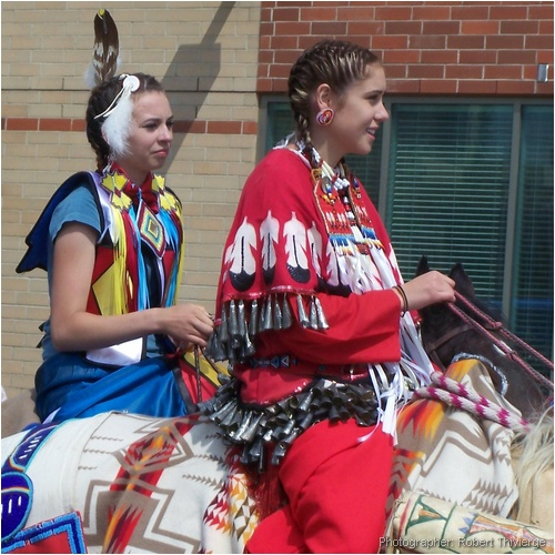 Native riders at 2009 Stampede Parade