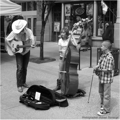 Busking Trio on Stephen Avenue