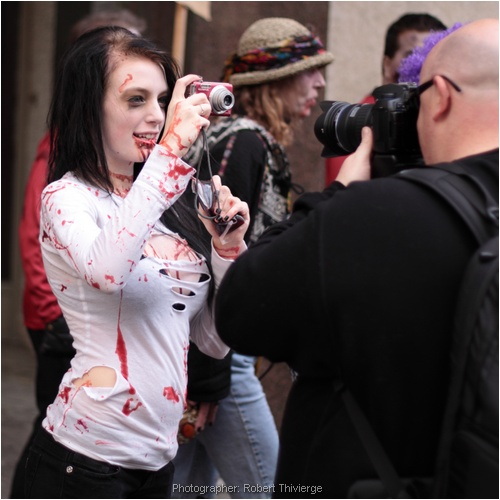 Zombie shoots back