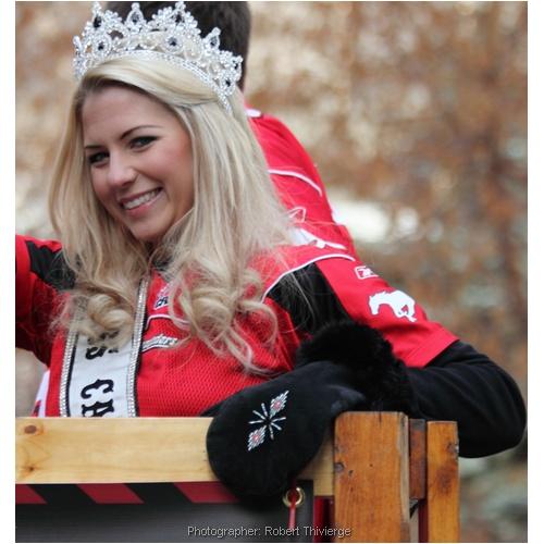 Beauty Queen in Grey Cup Parade