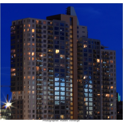 Vantage Pointe at Night