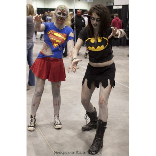 Zombie Super Girl and Batgirl