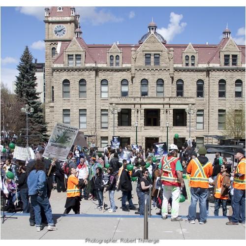 Rallying for pot at City Hall