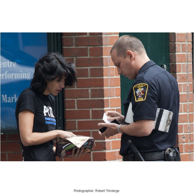 PETA talks to the cops in Calgary