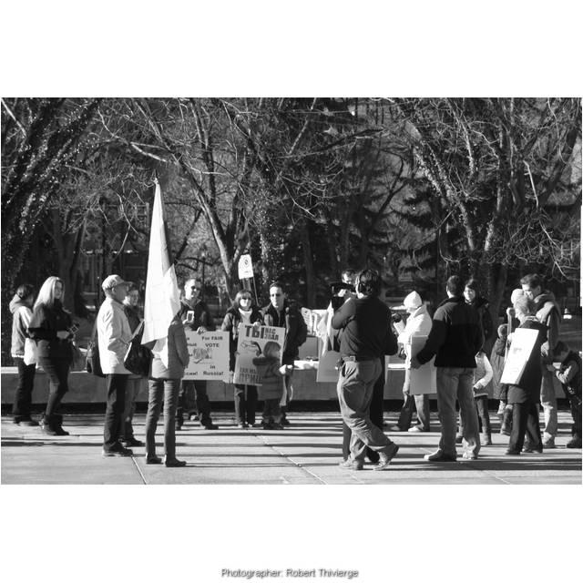 Russia Protest in Calgary