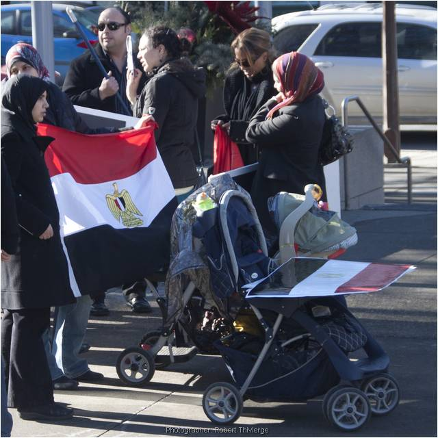 Egypt protest in Calgary