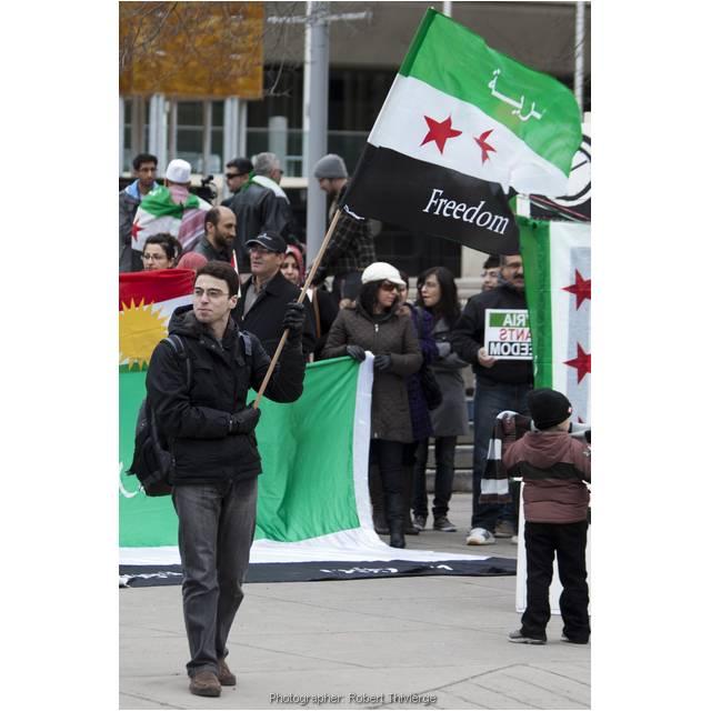Flying Freedom Flag for Syria
