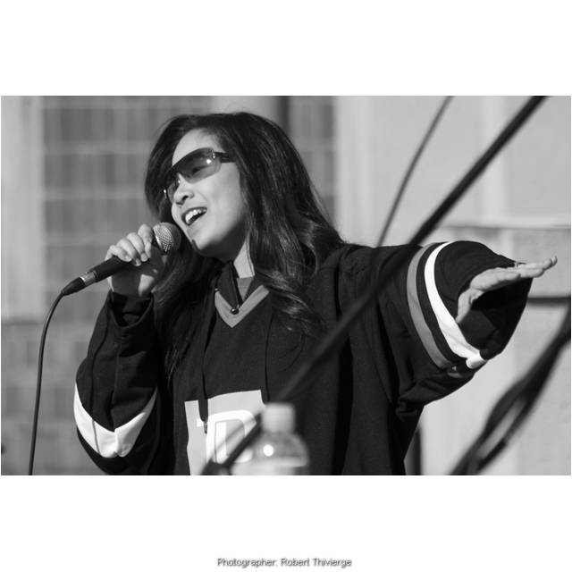 Singing at Winterfest