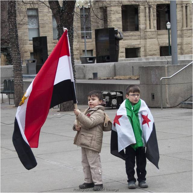 Young Flag Holders