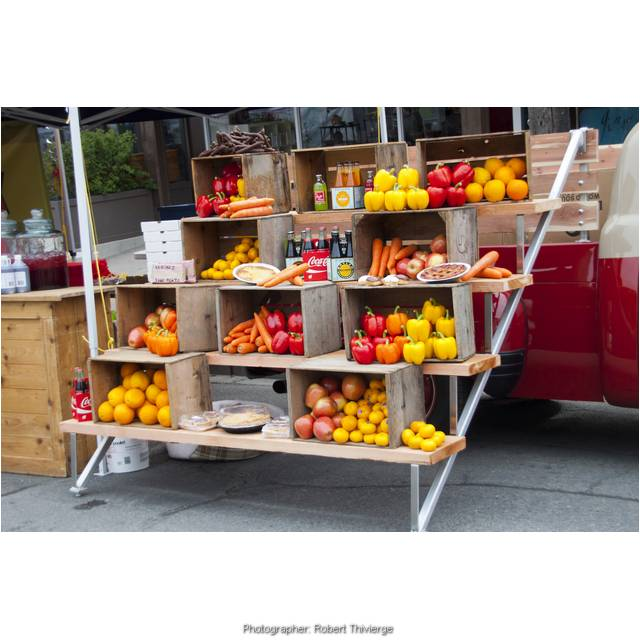 Colorful fruits and vegetables for sale